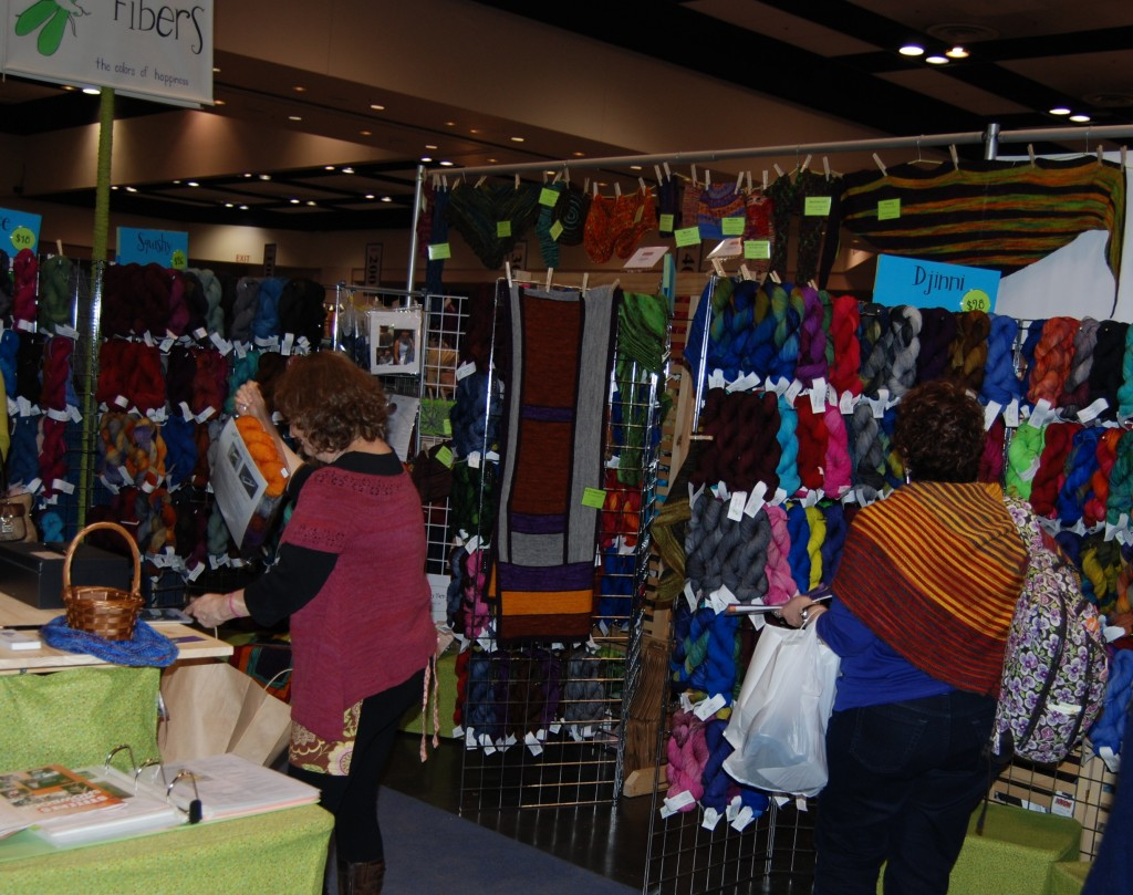 Dragonfly Fibers Booth at Stitches West 2014